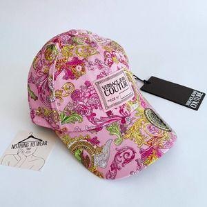 ⭕️ VERSACE JEANS Women's Cap Hat Pink Versailles